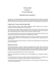 "17 December 2009 Inchcape plc Pre-close trading update ""2009 ..."