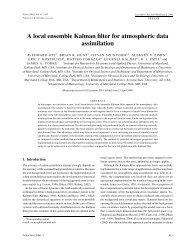 A local ensemble Kalman filter for atmospheric data assimilation