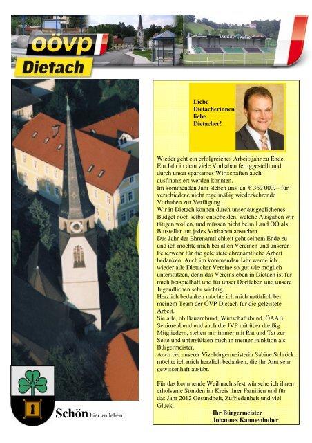 ÖVP-Schwerpunkte 2011 - ÖVP Dietach
