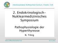 Pathophysiologie - Interdisziplinäres Stoffwechsel-Centrum