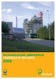 dichiarazione ambientale centrale di milazzo 2008 - Edison