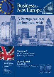 A Europe we can do business with - Business for New Europe