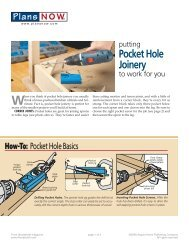 Pocket Hole Joinery To Work For You - gerald@eberhardt.bz