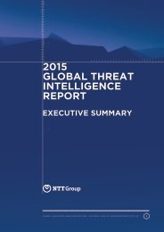 2015 NTT Group Global Threat Intelligence Report executive summary