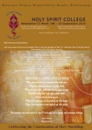 SPORTING NEwS - Holy Spirit College