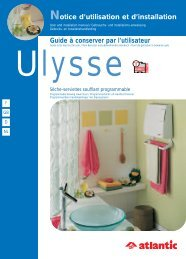 Guide à conserver par l'utilisateur Notice d'utilisation et d'installation