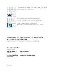 vysoké učení technické v brně programový systém pro plánování a ...
