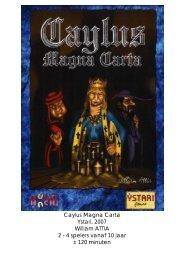 Caylus Magna Carta Ystari, 2007 William ATTIA 2 ... - Forum Mortsel
