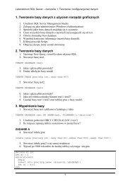 Ćwiczenie 1 - Instalacja i konfiguracja baz danych