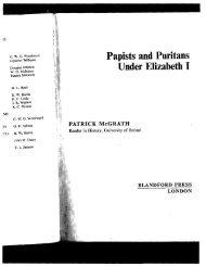 Papists and Puritans Under Elizabeth I