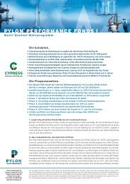 PPF I Flyer – Langversion - PYLON Performance Fonds