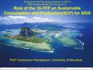 Role of the 10-YFP on Sustainable Consumption and Production(SCP)
