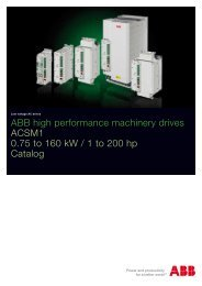 ABB high performance machinery drives ACSM1 0.75 to 160 kW / 1 ...