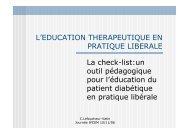 L'EDUCATION THERAPEUTIQUE EN PRATIQUE ... - Ipcem