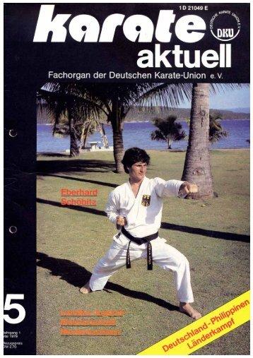 DKU-Nachrichten Nr. 5 - Chronik des deutschen Karateverbandes