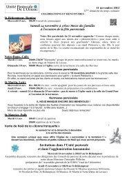 Invitations dans l'Unité pastorale et dans l ... - Cath-vd.ch