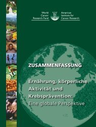 Wcrf-Report, deutsche Zusammenfassung - DGE