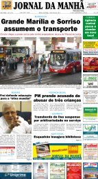 Grande Marília e Sorriso assumem o transporte - Jornal da Manhã