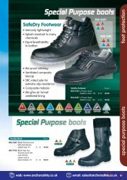 foot protection special purpose boots - Anchor