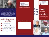 Falls Prevention Awareness Week Brochure