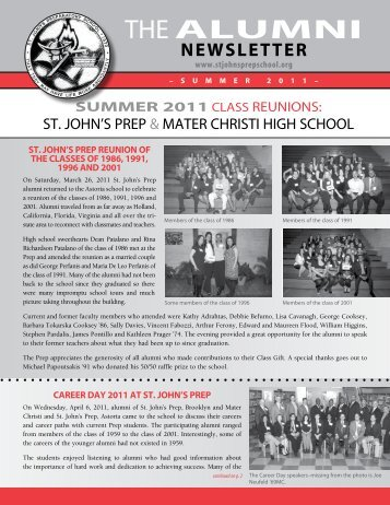 THE ALUMNI - St. John's Prep