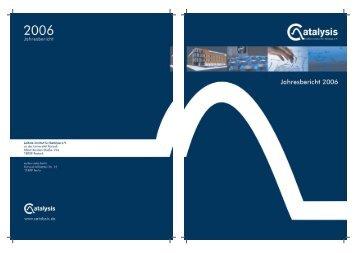 Endfassung Jahresbericht.indd - Leibniz-Institut für Katalyse