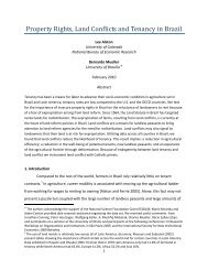 Property Rights, Land Conflicts and Tenancy in Brazil