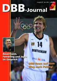 DBB-Journal DBB-Journal - Deutscher Basketball Bund