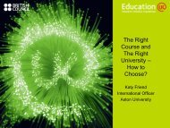 The Right Course and The Right University – How to ... - Education UK