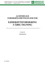 Ejerskifteforsikring 5-årig - Sønderjysk Forsikring