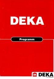 PDF Gesamt-Katalog Deka 3846KB - RAU+CO