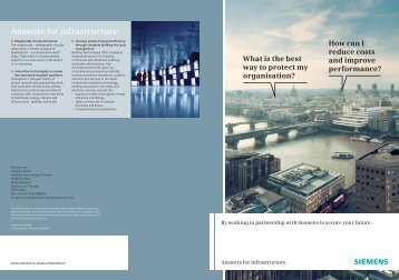 Answers for infrastructure. - Industry UK - Siemens