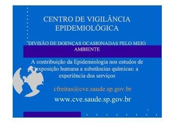 A contribuição da epidemiologia nos estudos de exposição humana ...