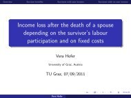 Income loss after the death of a spouse depending on the survivor's ...