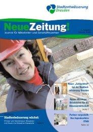 Stadtentwässerung wächst: - Stadtentwässerung Dresden