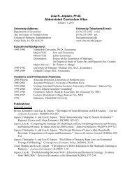 Lisa K. Jepsen, Ph.D. Abbreviated Curriculum Vitae - College of ...