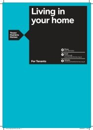 Living in your home booklet for tenants - Tower Hamlets Homes