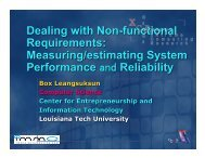 Performance and reliability evaluation - Louisiana Tech University