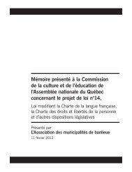 Mémoire présenté à la Commission de la culture et de l'éducation ...