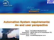 Automation System Requirements - An End User Perspective - ARC ...