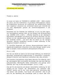 s) Erziehung nach auschwitz Theodor w. adorno Im ersten teil hatte ...