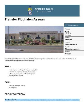 Flughafentransfers Assuan - Memphis Tours - Memphis Tours Egypt