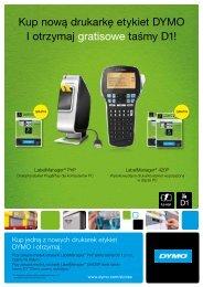 Kup nową drukarkę etykiet DYMO I otrzymaj gratisowe taśmy D1!