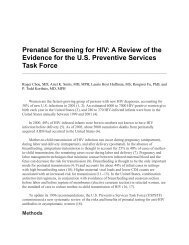 Prenatal Screening for HIV: A Review of the Evidence - ResearchGate