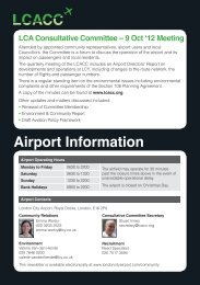 Airport Information - London City Airport Consultative Committee