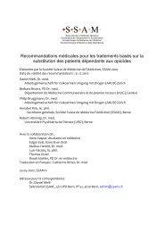 Recommandations médicales pour les traitements basés sur la ...