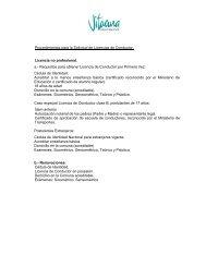 Procedimientos para la Solicitud de Licencias de Conductor ...