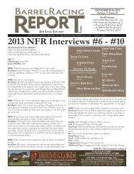 11/26 - Barrel Racing Report