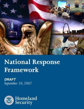 National Response Framework - Applied Science Foundation for ...
