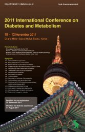 2 nd Announcement - 2011 International Conference on Diabetes ...